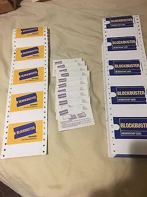 Blockbuster Video Membership Cards 10 Blank Cards & 10 Plastic Laminate Sleeves