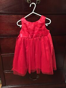 3t, red Xmas dress