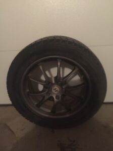 Set of winter tires and rims. Strathcona County Edmonton Area image 1