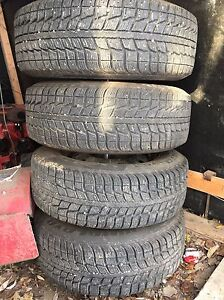 """15"""" winter tires and rims"""