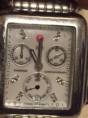 Michele Deco Diamond Dial MW06P00A0046 Steel Ladies Chronograph Watch