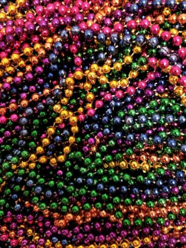 240 Mardi Gras Beads Necklaces Bulk Lot Multi Color Metallic Party Favors FREE S