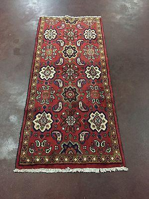 "Great Sale Handmade Persian Hamadan Rug Geometric Carpet Runner 2x6,2'5""x5'7"""