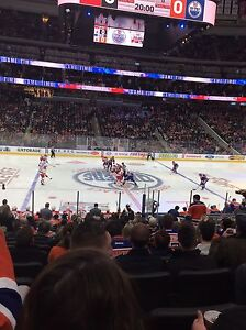 Oilers vs Bluejackets Tuesday Dec. 13! Center Ice Club Seats!