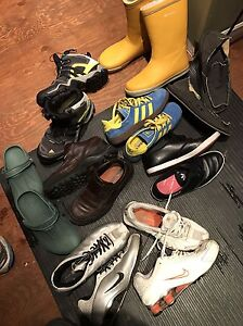 Lot of various shoes