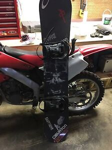 Option board with Ride bindings and Ride board Edmonton Edmonton Area image 1