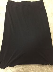 Classy black maternity skirt and top- size small