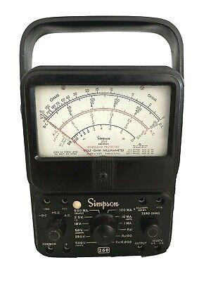 Vintage Simpson 260 Series 6p Analog Volt-ohm-milliammeter Vom Multi-meter