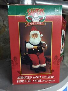 Animated Singing Santa
