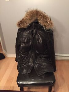 XXL real leather jacket with removable vest - West Island Greater Montréal image 1