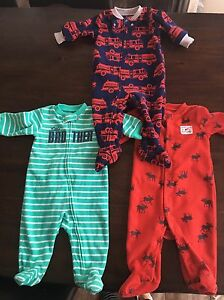 Carter's 6 months fleece sleepers