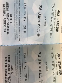 Ed Sheeran Sydney ticket Swap