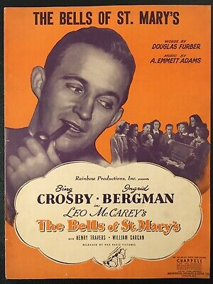 Bing Crosby Vintage 50/'s Music poster reproduction.