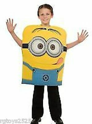 Despicable Me 2 MINION DAVE Costume Size 4-5 S New Childs Halloween Foam - Despicable Me 2 Minion Halloween Costumes