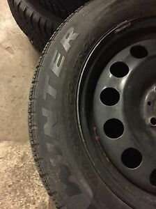 4 winter Pirelli 175/65/15 on rims 4x100  Kitchener / Waterloo Kitchener Area image 4