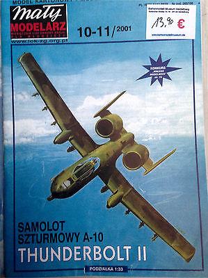 Kartonmodellbogen  aus Sammlungsauflösung Fairchild A-10A Thunderbolt II