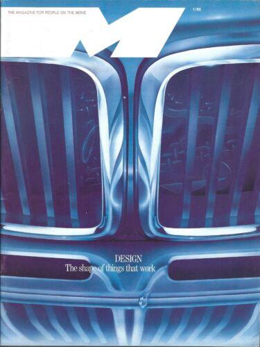 Auto Magazine - BMW - M - Design Art Giugiaro M1 733i Fold Out 1985 (A1273)