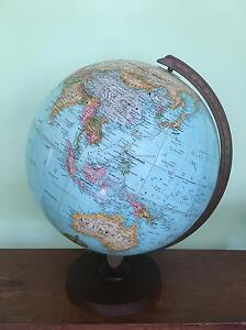 Antique World Globe on Wooden Stand Avalon Pittwater Area Preview