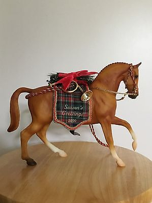 BREYER SR CHRISTMAS HORSE HOLIDAY HUNT SORREL ROEMER MOLD