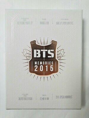 BTS BANGTAN Memories of 2015 Official 4 DVD Photobook Full Set