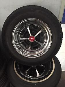 4 mag wheels and tyres in excellent condition from a 65 Mustang. Taylors Lakes Brimbank Area Preview