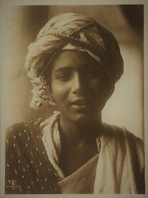 Lehnert & Landrock Portrait de Mohamed Vintage Arab Photo Heliogravüre (BN)