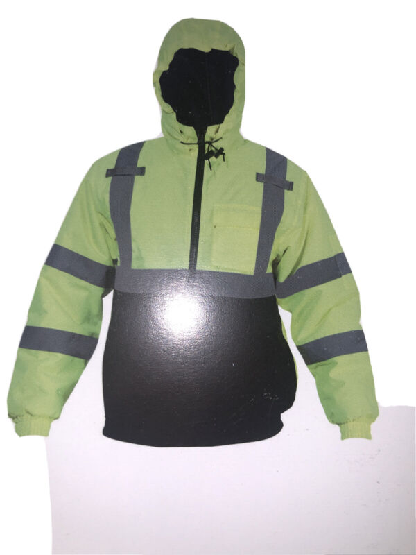 Reflective Unisex Safety Jacket L Yellow Green