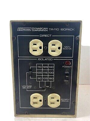 Bk Precision Tr-110 Dual Output Isopack Isolation Transformerc-4
