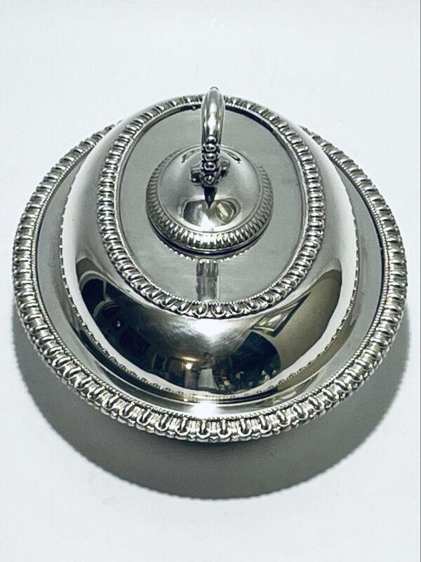 Magnificent Antique Meriden Quadruple Silver Plate Vegetable Dish Bowl W/Covered