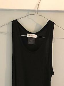 Scanlan Theodore black ribbed dress, size 8 Edgecliff Eastern Suburbs Preview