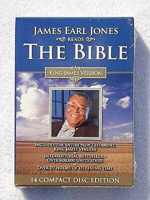 James Earl Jones Reads The Bible New Testament KJV (2006) 14-Disc CD Set