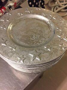 Metallic Christmas Charger Plates