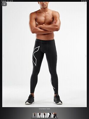 NWT Mens 2XU PWX Running Compression Leggings Full Length Size L