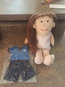 Brand new girl guide doll with brownie outfit
