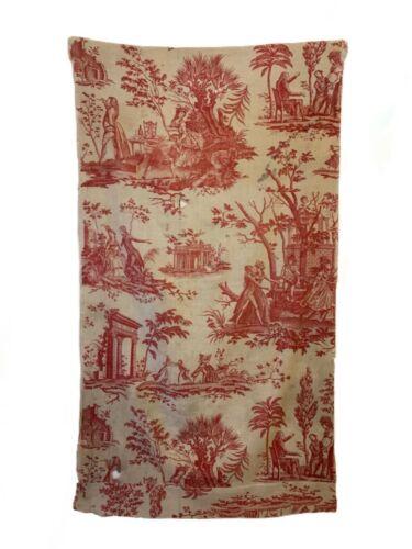 Antique Rare 18th Century French Printed Linen Figurative Scenic Toile (3085)