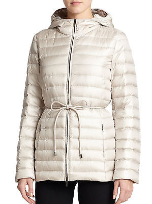 NWT Max Mara Weekend Quilted Down Jacket Coat Puffer Beige Sz. 6