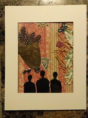 The Watchers Africa--OOAK Mixed Media Artwork