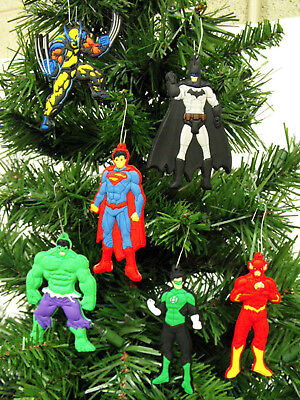 Cheap Christmas Ornaments (Super Hero 7 Piece Christmas Ornaments Set  Flash, Spiderman, Batman,)