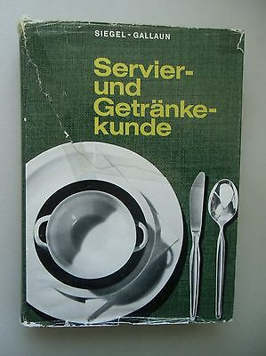 Servier- und Getränkekunde 1972 Servierkunde Getränke