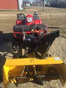 Quad mounted snow blower