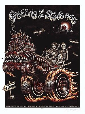 MINT EMEK Queens Of The Stone Age LA Forum HALLOWEEN A/P Poster 22/30