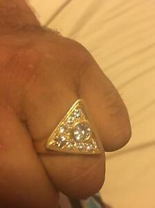 Men's gold diamond ring. Joondalup Joondalup Area Preview