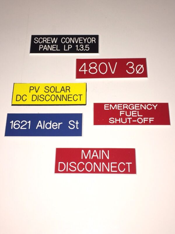Plastic Engraved Label 1 x 3  - Choose your color and text.