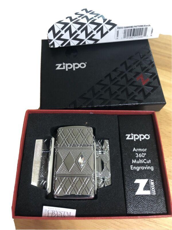 zippo lighter-ArmorSlim-360-Diamond Pattrn Design / Crystal-