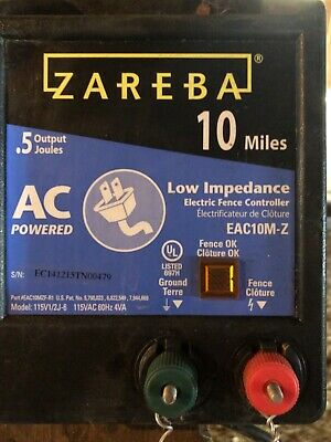 Zareba Electric Fence Charger - 10 Acre Range. Barely Used Condition.