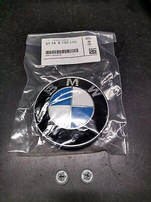 BMW Genuine Hood/Trunk Roundel Emblem with Grommets, Many Models 51148132375