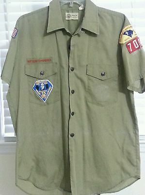 Vtg Official Boy Scouts Shirt Patches 80s Olive Coastal Council Halloween](Halloween Council)