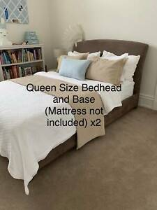 2 x Queensize Bed Head and Base