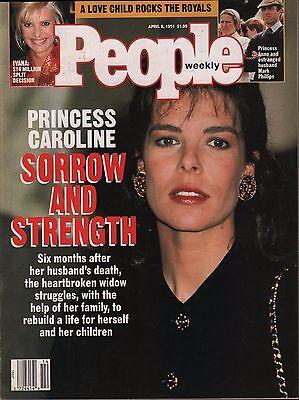 People Weekly April 8 1991 Princess Caroline  Ivana Trump Vg 012916Dbe