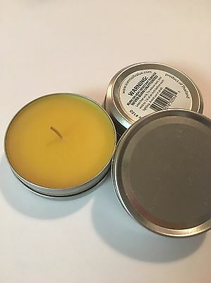 Candle In Metal Travel Tin 2 oz.  Vanilla Aromatherapy Great Gift! 2 Ounce Travel Tin
